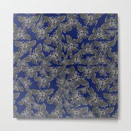 Night Butterfly Jewel Metal Print