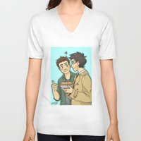 pie V-neck T-shirts featuring DeanCas -Pie by KalesButt