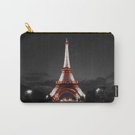 Paris Eiffel Tower Pink Night Carry-All Pouch