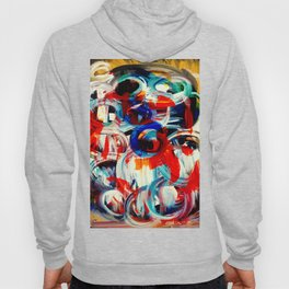 Abstract Action American Painting Hoody
