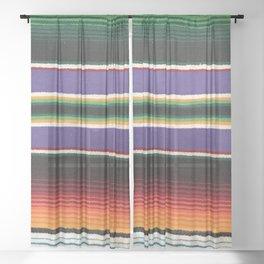 MEXICAN SERAPE Sheer Curtain