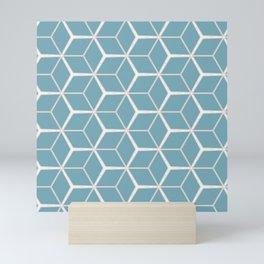 Sea Foam Blue Geometric Pattern Mini Art Print