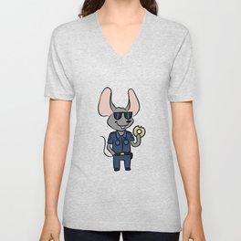 Police Security Mouse cartoon children gift Unisex V-Neck
