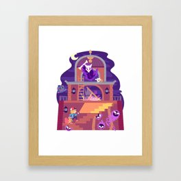Tiny Worlds - Lavender Town Tower Framed Art Print