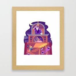 Tiny Worlds - Lavender Town Tower Framed Art Print