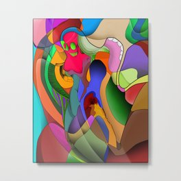 Psychedelic LSD Woman Metal Print