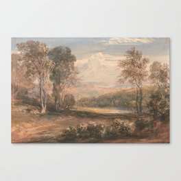 On the Wye by David Cox, circa 1832 Canvas Print