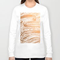 rose gold Long Sleeve T-shirts featuring Rose Gold Galaxy by IndigoEleven