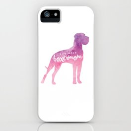 Lovingly Boxermom Dog Mom Hunde Mama iPhone Case