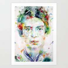 EMILY DICKINSON - watercolor portrait Art Print