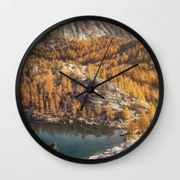 Autumn By The Lakes Wall Clock