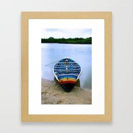 Seahorse Boat Framed Art Print