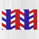 Striped Red Blue Pattern by mansi07