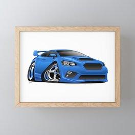Import Sports Sedan Cartoon Illustration Framed Mini Art Print
