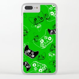 Video Game Green Clear iPhone Case