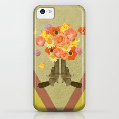 In my world, flowers come out of guns iPhone 5c Slim Case
