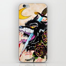 The Wolf and Dagger iPhone Skin