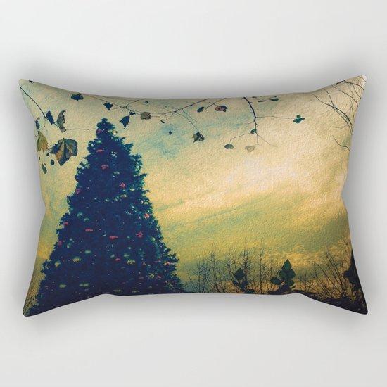 Christmas Tree at Dusk Rectangular Pillow