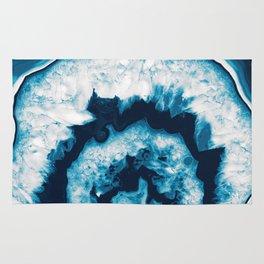 Blue White Agate #1 #gem #decor #art #society6 Rug