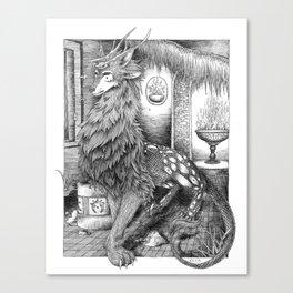Wolf Dragon Canvas Print
