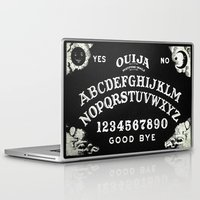ouija Laptop & iPad Skins featuring ouija  by Clelia Bloo