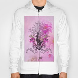 Funny easter bunny with flowers Hoody