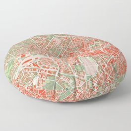 Munich city map classic Floor Pillow