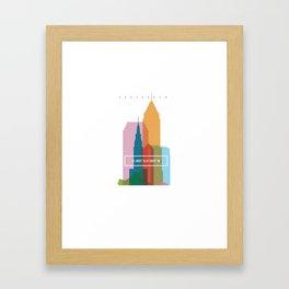 Coordinates Project: Cleveland Framed Art Print