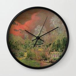 English Garden Sunset Wall Clock