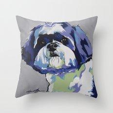 Shih Tzu Pop Art Pet Portrait Throw Pillow