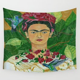 Frida In Heaven Wall Tapestry
