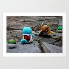 A Battle. Art Print