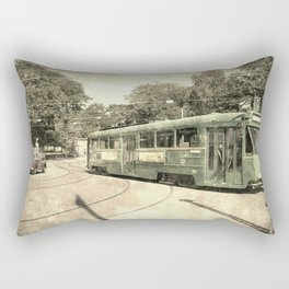 Old Trolley Route Rectangular Pillow