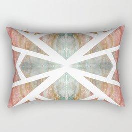 Watercolor Abstract Mosaic Rectangular Pillow
