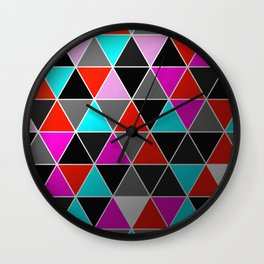 Industrial Triangles Wall Clock
