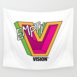 Empty V (Pink) Wall Tapestry