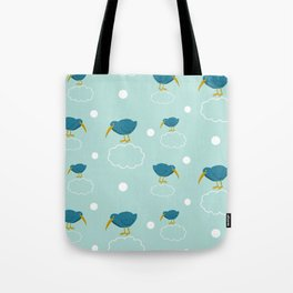 Kiwi birds on the clouds Tote Bag