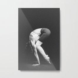 yoga and acroyoga woman beautiful Metal Print