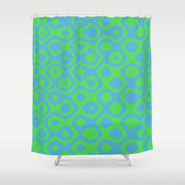 Brain Coral Green - Coral Reef Series 021 Shower Curtain