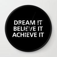 motivational Wall Clocks featuring Motivational by Motivational