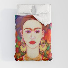 My other Frida Kahlo with butterflies Duvet Cover