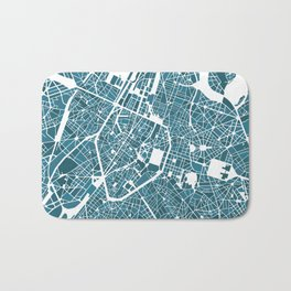 Brussels City Map I Bath Mat