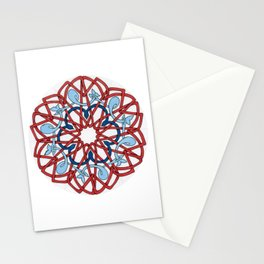 Blue Whales in a Red Sea Stationery Cards