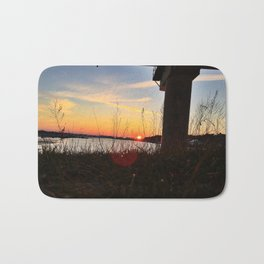 Spring Sunset Behind the Casco Bay Bridge Bath Mat