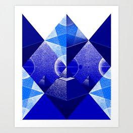 Triangle Blue Art Print