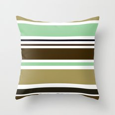 Mocha Mint Throw Pillow