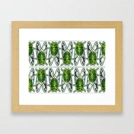 Emerald Cicadas Framed Art Print