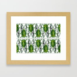 Emerald Cicadas Framed Art Print