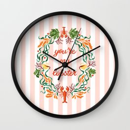 You're My Lobster / Friends Wall Clock