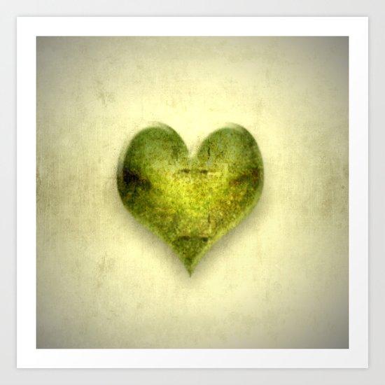 The green heart Art Print